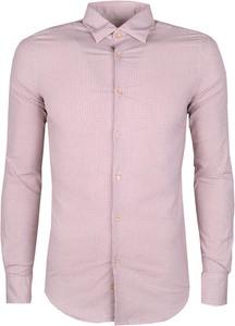 Różowa koszula liu-jo z długim rękawem z tkaniny