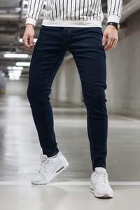 Granatowe jeansy Duuf z jeansu