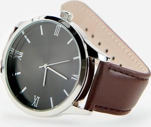 Reserved - Zegarek na skórzanym pasku - Brązowy