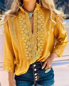 Żółta koszula Kendallme