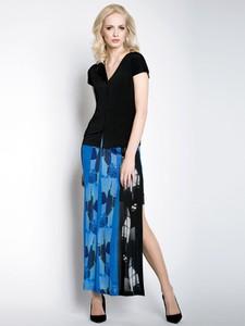 Niebieska spódnica POTIS & VERSO w stylu boho