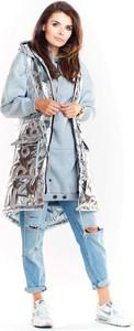 Kamizelka Awama w stylu casual długa z tkaniny