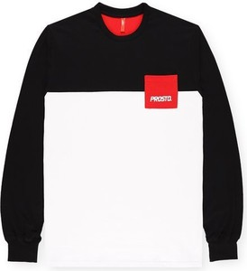 Czarna koszulka z długim rękawem Prosto. w młodzieżowym stylu z długim rękawem