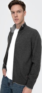 Czarny sweter Lee Cooper w stylu casual z wełny