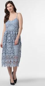 Niebieska sukienka Vila na ramiączkach w stylu casual