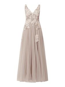 Sukienka Mascara z szyfonu maxi na ramiączkach