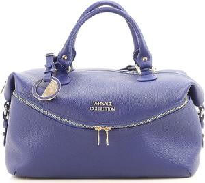 Niebieska torebka Versace