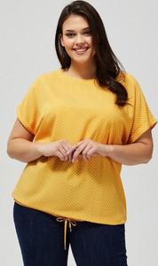 Bluzka Moodo w stylu casual z krótkim rękawem z okrągłym dekoltem