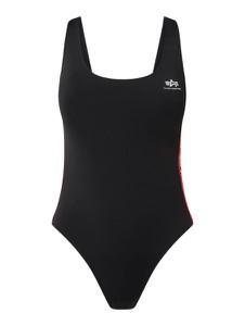 Czarny strój kąpielowy Alpha Industries
