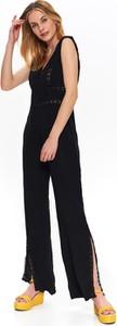 Czarny kombinezon Top Secret z tkaniny z długimi nogawkami
