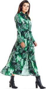 Sukienka Awama w stylu boho szmizjerka maxi