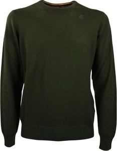 Zielony sweter K-Way z wełny w stylu casual