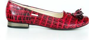 Czerwone baleriny Zapato w stylu boho