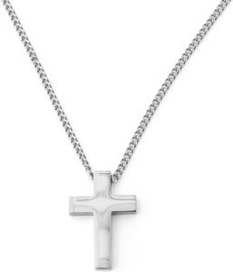 Lucleon Naszyjnik z krzyżem w srebrnym tonie
