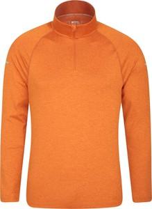 Pomarańczowy t-shirt Mountain Warehouse z długim rękawem