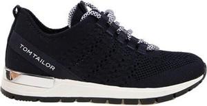 Granatowe buty sportowe dziecięce Tom Tailor sznurowane