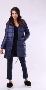 Niebieska kurtka Nommo długa w stylu casual