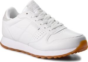 Buty sportowe Skechers z płaską podeszwą ze skóry ekologicznej w stylu casual
