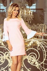 Różowa sukienka NUMOCO z długim rękawem mini