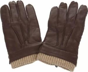 Brązowe rękawiczki Dressmann