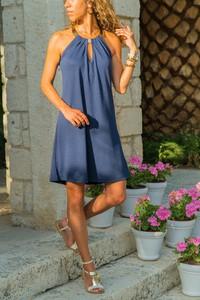 Granatowa sukienka Ivet.pl w stylu casual