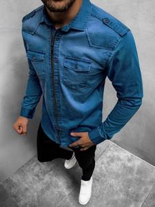 Koszula ozonee.pl z jeansu