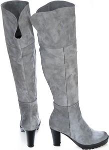 Kozaki Zapato na zamek ze skóry za kolano
