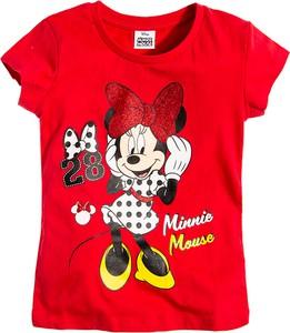 Czerwona koszulka dziecięca Odzież Licencyjna z krótkim rękawem