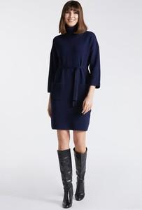 Niebieska sukienka Monnari mini z długim rękawem