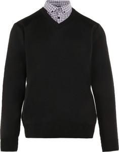 Czarny sweter born2be w stylu casual z wełny
