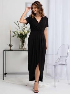 Sukienka Grandio kopertowa z tkaniny