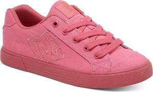 Różowe trampki Dc-shoes sznurowane w sportowym stylu