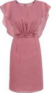 Różowa sukienka POTIS & VERSO z szyfonu mini