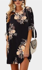 Elegrina kwiatowa sukienka sandy czarna