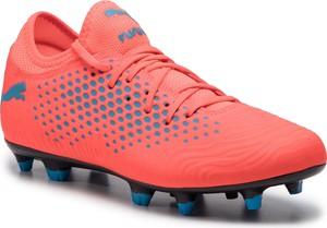 Buty sportowe Puma ze skóry ekologicznej w sportowym stylu sznurowane