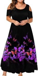Sukienka Arilook z krótkim rękawem z okrągłym dekoltem
