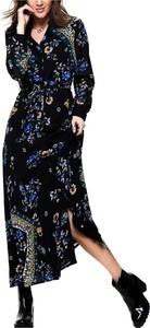 Sukienka Only z długim rękawem maxi z dekoltem w kształcie litery v