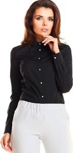 Czarna koszula Awama z długim rękawem z bawełny