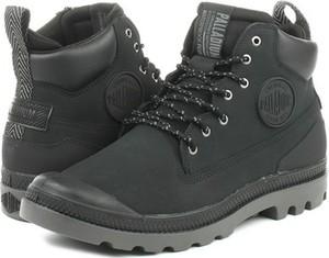 Czarne buty zimowe Palladium z nubuku