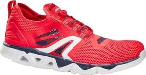 Czerwone buty sportowe Newfeel sznurowane w sportowym stylu