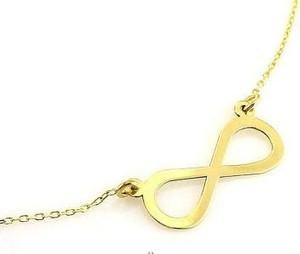 Lovrin Złoty naszyjnik 585 infinity celebrytka nieskończoność 0,99 g