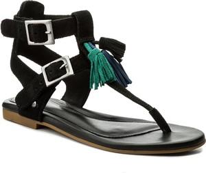 Czarne sandały ugg australia w stylu casual z klamrami z płaską podeszwą