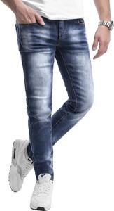 Niebieskie jeansy Risardi z jeansu