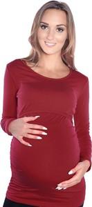 Czerwona bluzka Mijaculture z bawełny