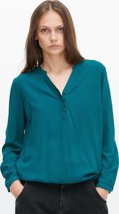 Zielona bluzka Reserved z długim rękawem