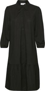 Czarna sukienka Saint Tropez z długim rękawem