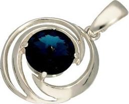 Polcarat Design Srebrny wisiorek z kryształem Swarovski W 1942 : Kolor - Montana