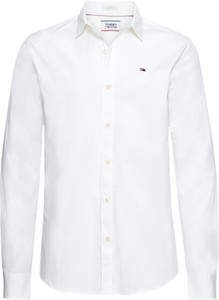 Koszula Tommy Jeans z długim rękawem z bawełny z klasycznym kołnierzykiem