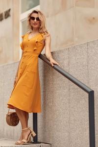 Żółta sukienka Fasardi
