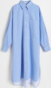 Sukienka Reserved koszulowa w stylu casual
